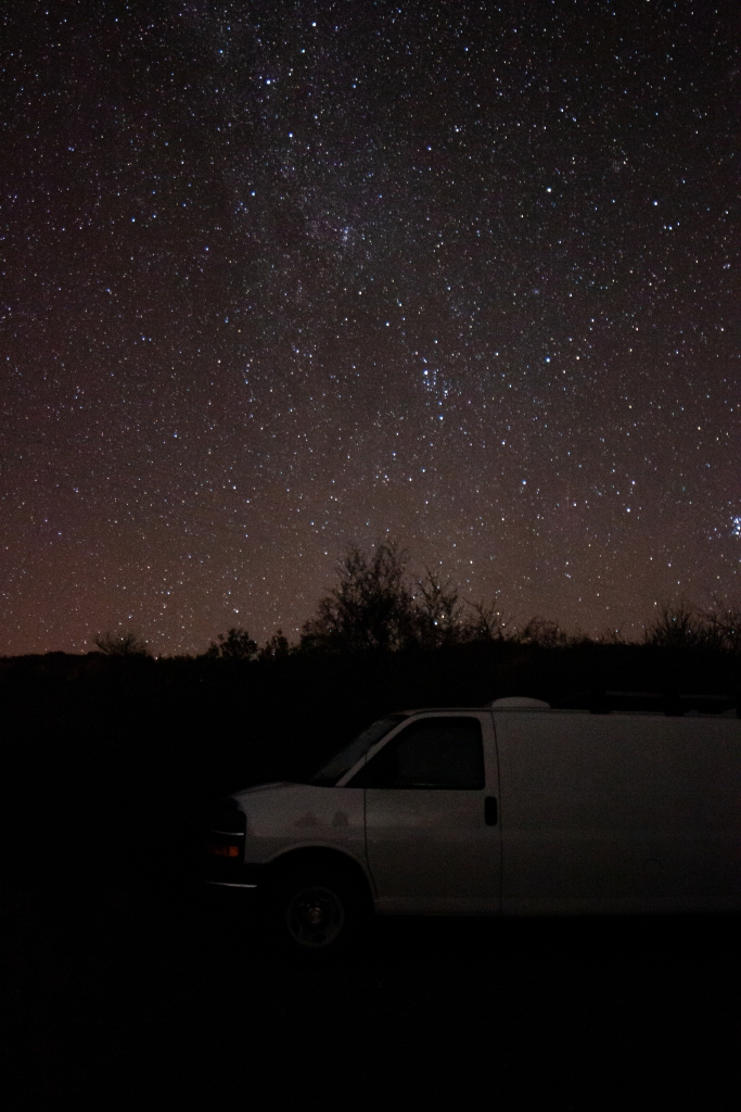 Astro photography in Sequoia National Park
