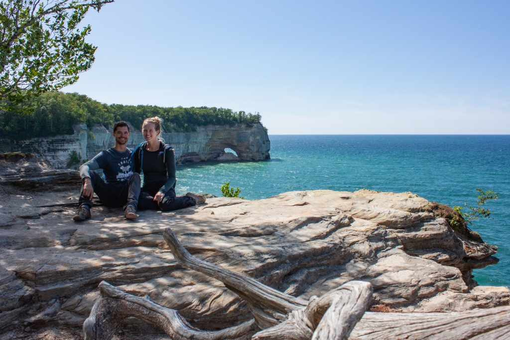 Lover's Leap from the Lakeshore Trail at Pictured Rocks